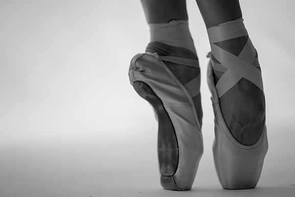 ballet, tap and jazz shoes