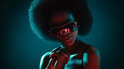 Afro hair model