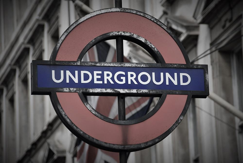 Underground tube sign