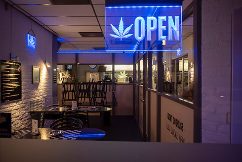 Image by Martijn Baudoin HashCab open business storefront
