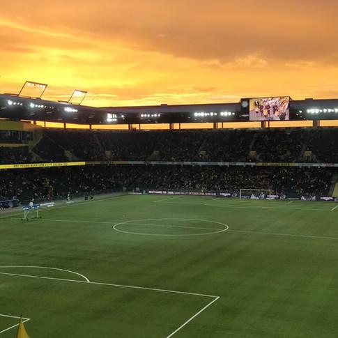 Football sunset