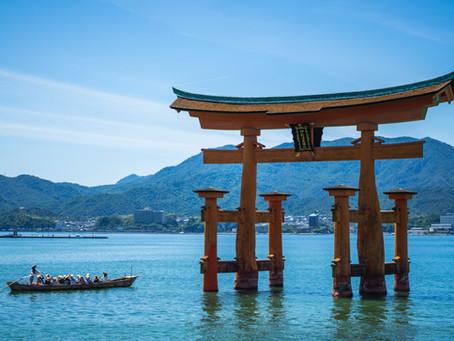 厳島神社の大鳥居。@イラスト
