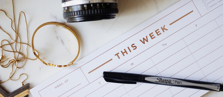 How To Plan Productive Weeks in 2020