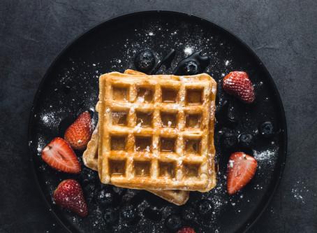 Belgian Waffles with Cinnamon (Vegan Option Included)
