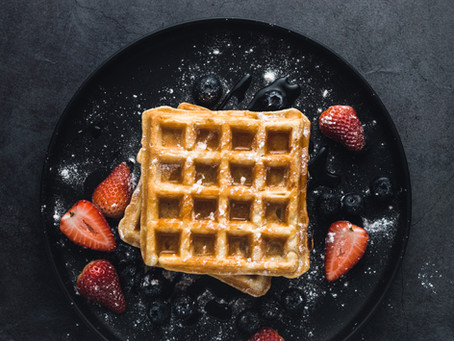 Belgian Waffles with Cinnamon (Vegan Option Included)