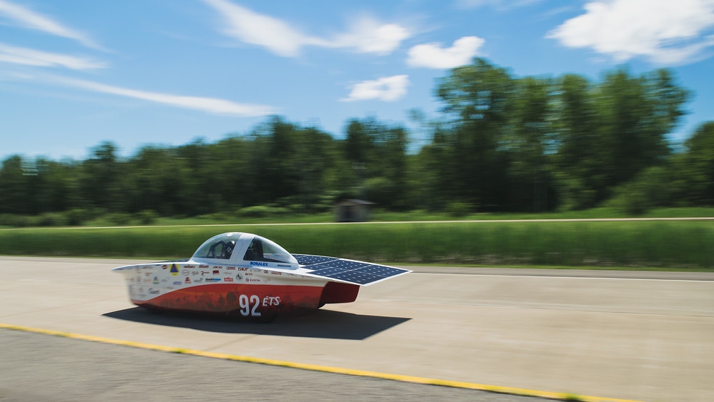 Solar energy powered car