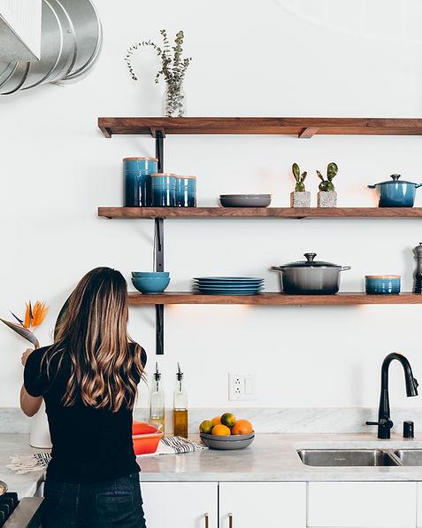 Woman in a modern kitchen
