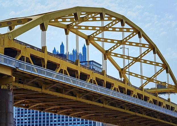 Yellow Pittsburgh Steel Bridge