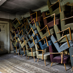He Stacks the Chairs by Mike Hickman