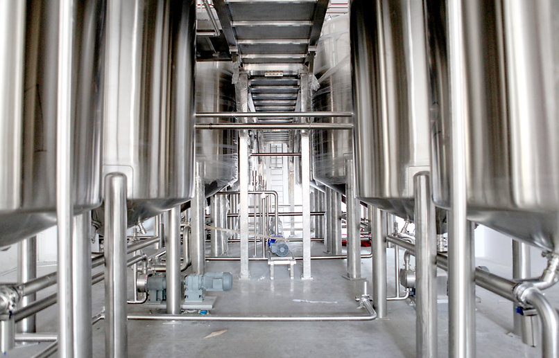 stainless steel piping dairy sanitation CIP food processing safety cleaning