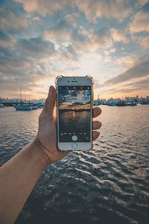 cellphone and boats