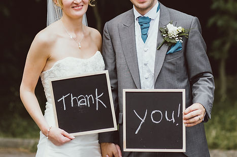 A 'Thank You' message from a bride & groom