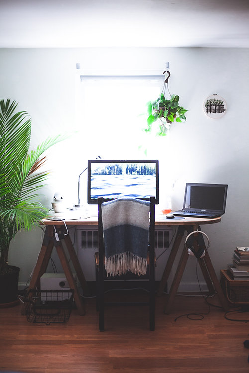 Picture of a work station
