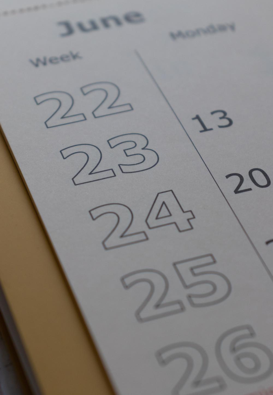 Planning pour mois de juin