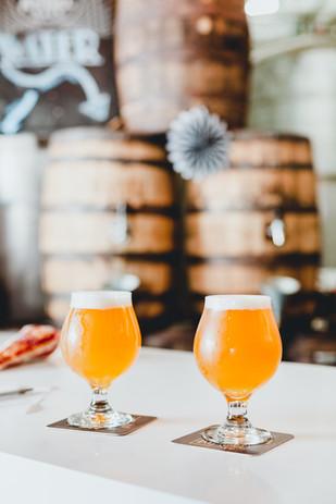 Frisches Bier vom Fass