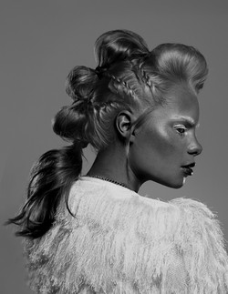 Styled hair model