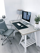 Home Office with Desk Chair and Computer
