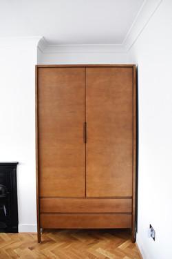 custom closet with doors