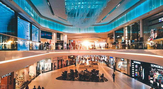 חלל מרכז קניות מפואר