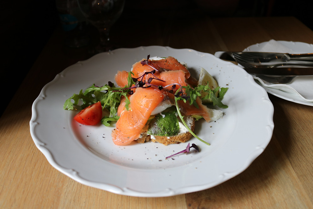 Healthy Smoked Salmon Dish