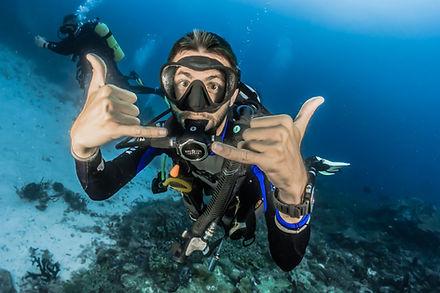 Diver in Hawaii