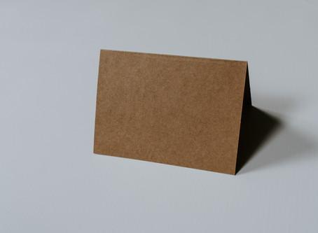 名刺に載せたい情報がたくさんある時。@二つ折り名刺・ショップカード デザイン