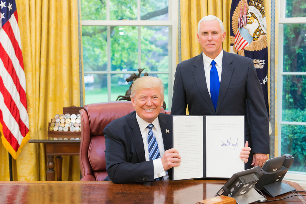 Former Pres.Donald Trump with VP Pence