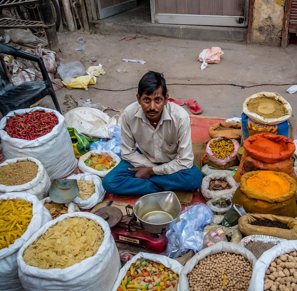 תבלינים בשוק בקוצ'ין שבדרום הודו