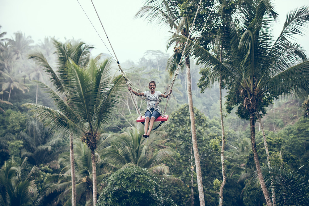 Zipling in the Jungle in Mexico
