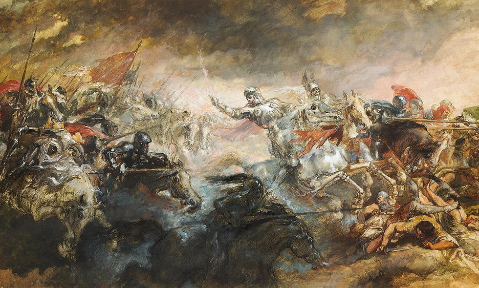 Battle Painting Knights a World of Unrest History Online Class for Kids Homeschool History Curriculum Program Affordable