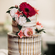 Wedding Cake with Real Flowers