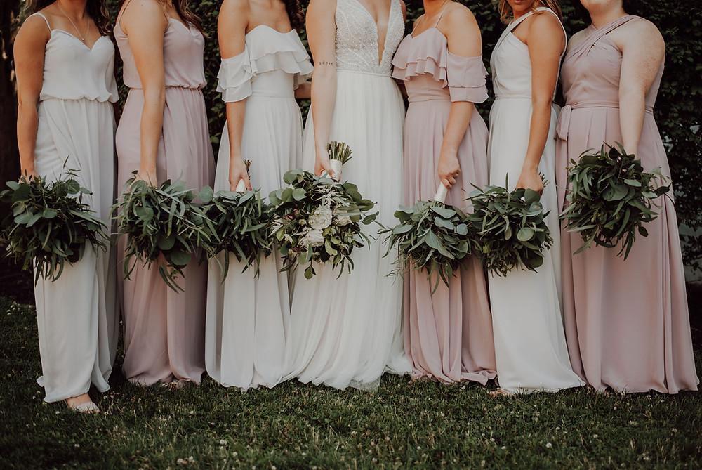 Brautjungfern und die Braut