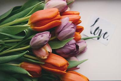 tulips photo by Brigitte Tohm via Unsplash