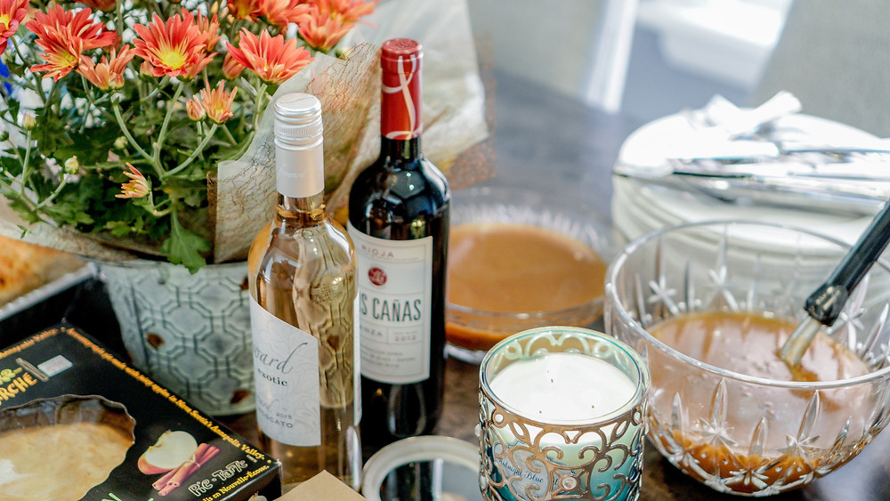 photo of wine and drinks for holiday