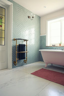 Bathroom Chevron Glass Tiles