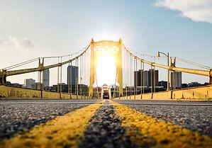 Pittsburgh, PA yellow bridge