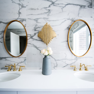 Marble wall tile bathroom