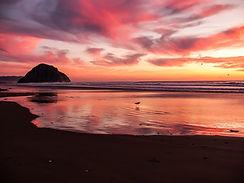 Beach at sunset - Summer