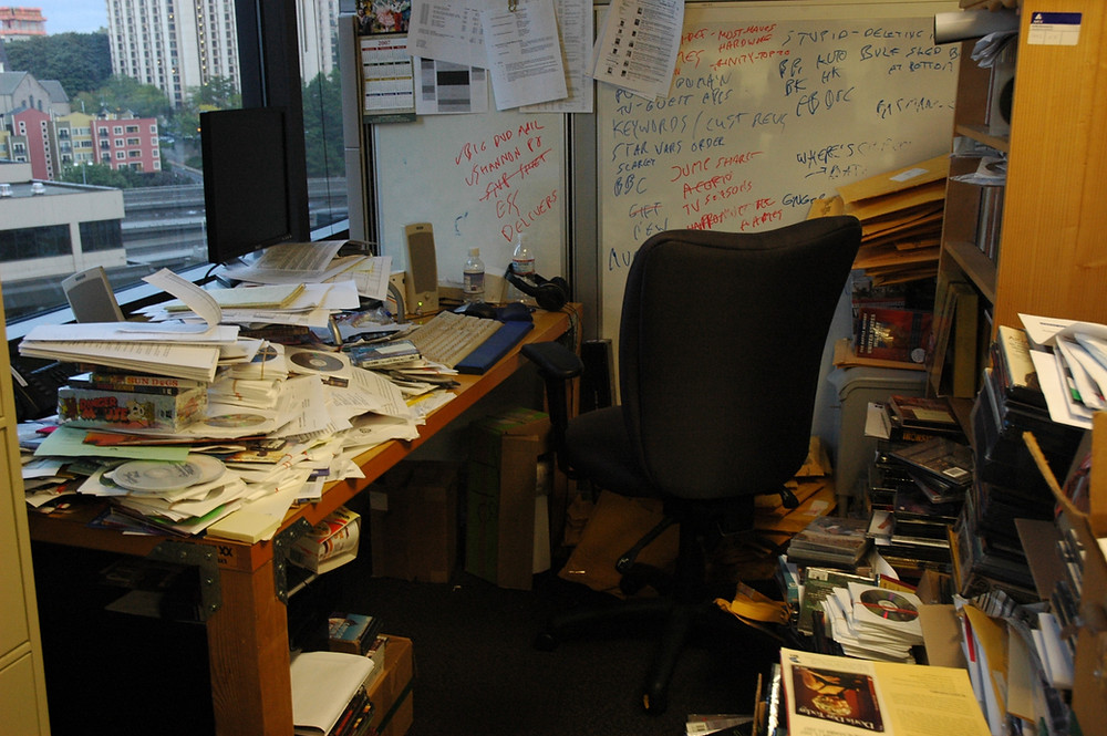 cluttered mess in office room in Park Forest Illinois