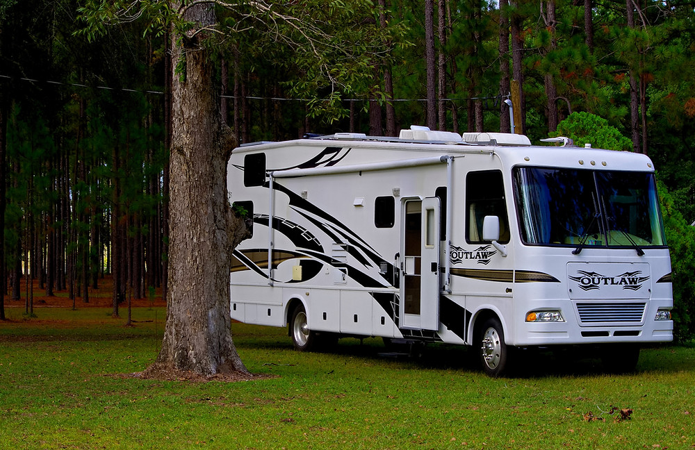 Picture of an RV in campground