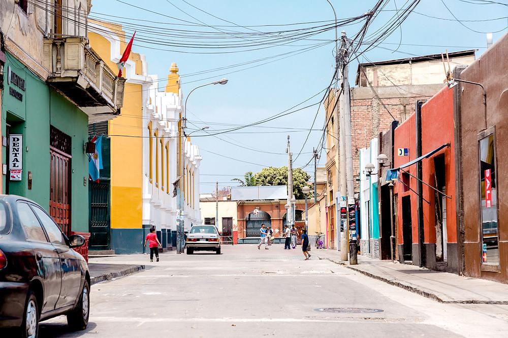 barranco streets in lima, peru