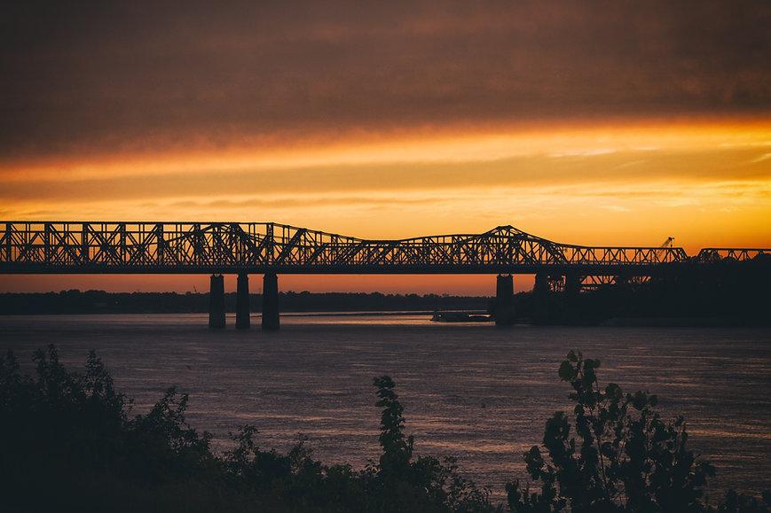 bridge sunset background
