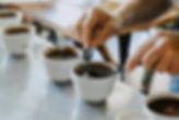 Koppingkurs där man testar olika typer av kaffe René Porter