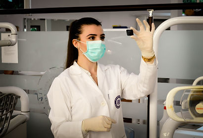 a woman wearing a mask to represent medical videos