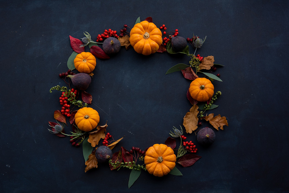 A Thanksgiving wreath