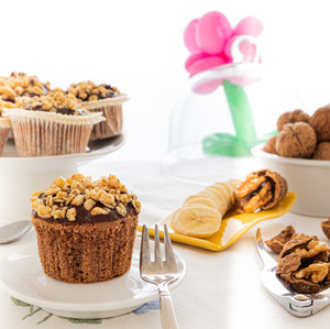 Banana & Chocolate Muffins - A Little Treat