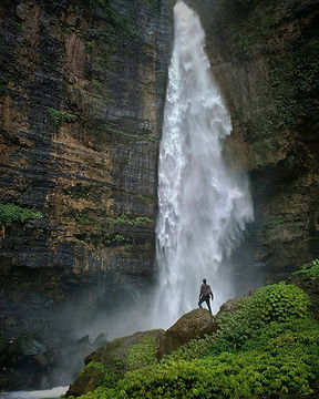 Hiking to waterfalls