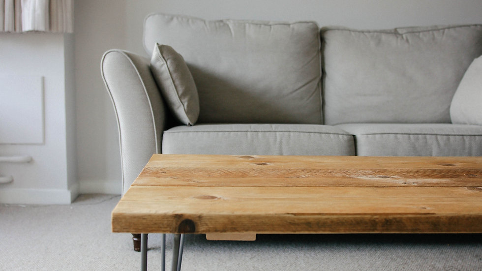 1M RECLAIMED SCAFFOLD BOARD TABLE TOP