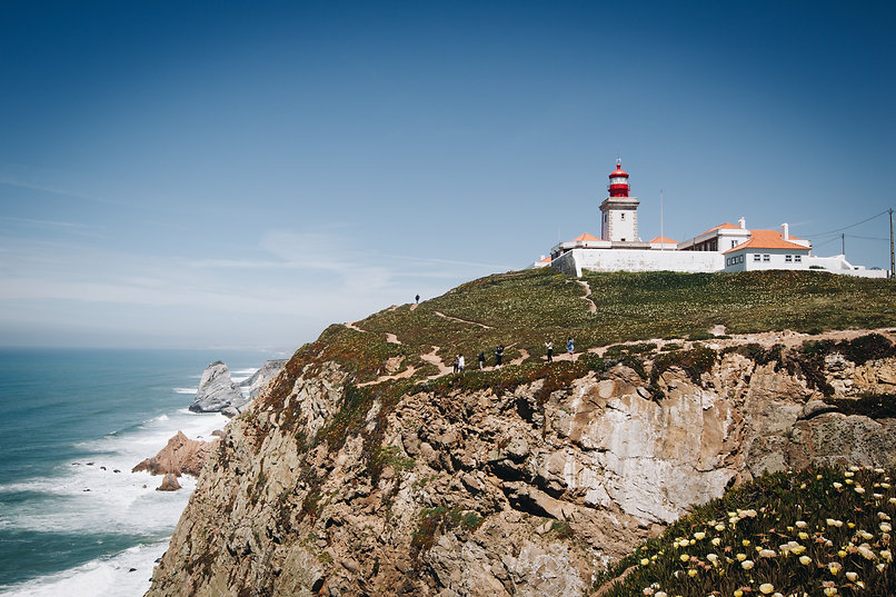 Lighthouse beach in Portugal