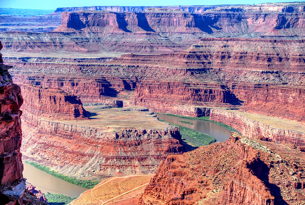 Looking over dead horse point
